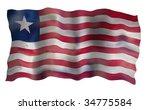vintage flag of liberia.... | Shutterstock . vector #34775584