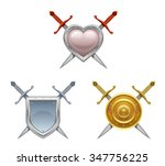 sword and shield | Shutterstock .eps vector #347756225