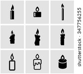 vector black candles icon set. | Shutterstock .eps vector #347756255