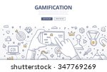 doodle concept of gamification... | Shutterstock .eps vector #347769269