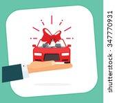 car gift badge vector... | Shutterstock .eps vector #347770931