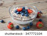 yogurt with granola and fresh... | Shutterstock . vector #347772104