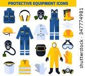 protective uniform respiratory... | Shutterstock .eps vector #347774981