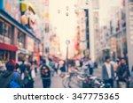 blurred background   dotonbori...   Shutterstock . vector #347775365