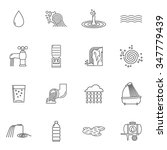 water icons line set with... | Shutterstock .eps vector #347779439