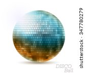 disco ball. disco background | Shutterstock .eps vector #347780279