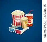 cinema composition with popcorn ... | Shutterstock .eps vector #347780345