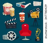 cinema set of design elements | Shutterstock .eps vector #347780429