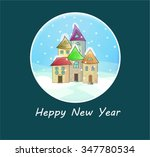 winter landscape  | Shutterstock .eps vector #347780534