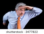 gray haired senior wearing an... | Shutterstock . vector #3477822