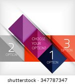 vector square abstract... | Shutterstock .eps vector #347787347