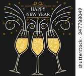 happy new year greeting card.... | Shutterstock .eps vector #347788049