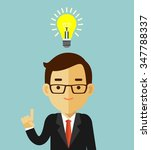 big idea concept with man and...   Shutterstock .eps vector #347788337