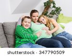 beautiful smiling pregnant... | Shutterstock . vector #347790509