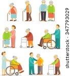 Set Of Older People In Flat...