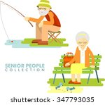 social concept   old people... | Shutterstock .eps vector #347793035