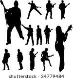 guitar player set   vector | Shutterstock .eps vector #34779484