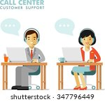 call center online customer... | Shutterstock .eps vector #347796449
