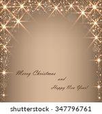 beautiful beige background with ... | Shutterstock .eps vector #347796761