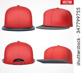 set of layout of male red rap... | Shutterstock .eps vector #347799755
