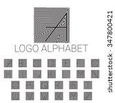 alphabet brand letters as logo. ... | Shutterstock .eps vector #347800421