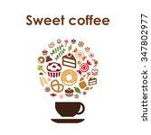 coffee cup design vector icon...   Shutterstock .eps vector #347802977
