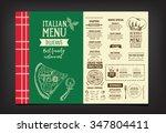 vector restaurant brochure ... | Shutterstock .eps vector #347804411