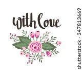 """poster template   """"with love""""....   Shutterstock .eps vector #347813669"""