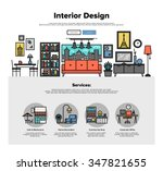 one page web design template... | Shutterstock .eps vector #347821655