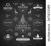 merry christmas and happy new... | Shutterstock .eps vector #347823389