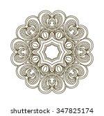 black beautiful mandala.... | Shutterstock . vector #347825174