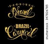 brazil carnival gold glittering ... | Shutterstock .eps vector #347826785
