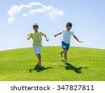 happy summer vacation for kids... | Shutterstock . vector #347827811