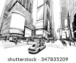 city hand drawn unique... | Shutterstock .eps vector #347835209