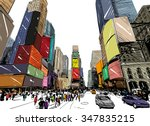 city hand drawn unique... | Shutterstock .eps vector #347835215