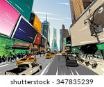 city hand drawn unique... | Shutterstock .eps vector #347835239