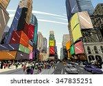 city hand drawn unique... | Shutterstock .eps vector #347835251