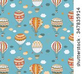balloons color pattern | Shutterstock .eps vector #347835914