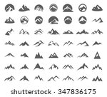 Mountains Logo Illustration Set