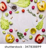delicious assortment of farm...   Shutterstock . vector #347838899