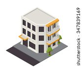 vector isometric building icon. ... | Shutterstock .eps vector #347839169