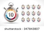 stopwatch   countdown concept   ...   Shutterstock .eps vector #347843807