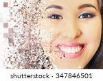 beautiful asian woman smile... | Shutterstock . vector #347846501
