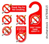 no smoking signs. vector.... | Shutterstock .eps vector #34784815
