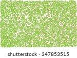 arabesque lines waves  | Shutterstock .eps vector #347853515