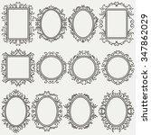 set of vintage frames  various... | Shutterstock .eps vector #347862029