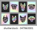 stylish retro hipster set... | Shutterstock .eps vector #347863301