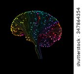 multicolored brain connections  ... | Shutterstock .eps vector #347864354
