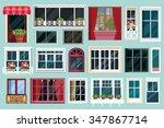 set of detailed various... | Shutterstock .eps vector #347867714
