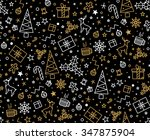 black and gold festive seamless ... | Shutterstock .eps vector #347875904